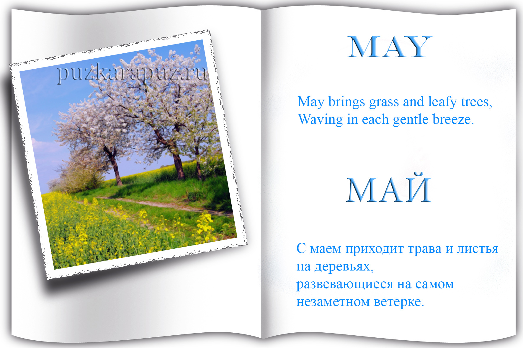 вдохновили вас стихи на английском 4 класс про весну украинский