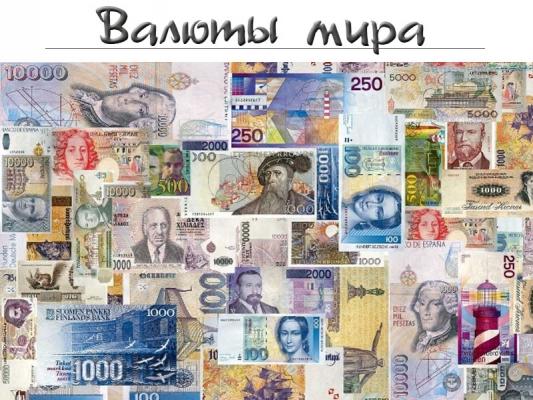 Валюты Мира Презентация