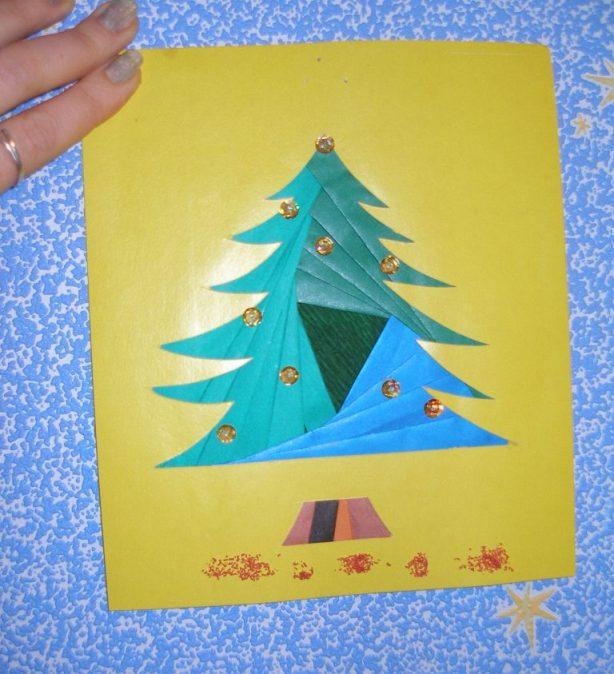 Оригинальные детские открытки к новому году