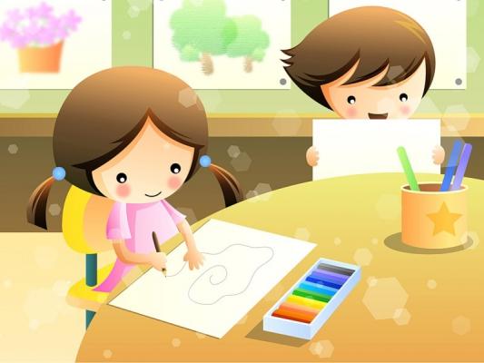 Рисовать и учат в школе