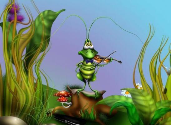 Песенка в траве сидел кузнечик аккорды - d893